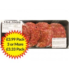 Chilli Beefburger - 4 pack (Approximate weight 454g)